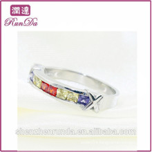 Hot sale colorful diamond stainless steel jewelry findings