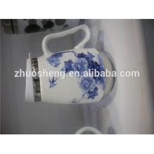 Chine top 10 vente produits drôle en céramique tasse tasse, tasse thermos imprimé personnalisé