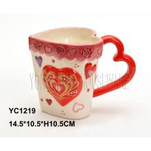 Caneca de café pintada mão cerâmica para