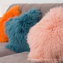 Piel de cordero almohada piel de doble cara muchos colores