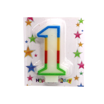Happy Birthday Cake Cupcake Topper Number Candles