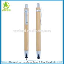 Venda direta da fábrica ecológica bambu caneta caneta chique escritório fornece