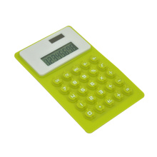 8 Digit Dual Power Flexible Silicone Calculator