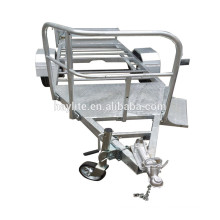 Galvanized Mobile Toilet Trailer for sale