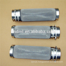 Stainless steel melt filter element, sintered melt filter for industrial equipment