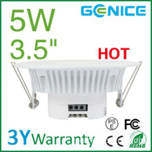 AC100-240V 4 inch 5W recessed led down light round lamp