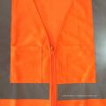 Fermeture à glissière avec fermeture à glissière ANSI 107 mesh fluorescent en orange fluorescente de haute qualité avec poches