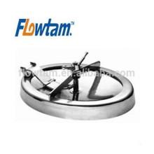 Aço inoxidável sanitário aço elíptico tanque manway cobertura