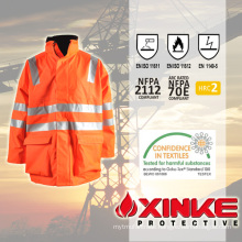 Xinke waterproof safety and fire resistant high visibility jacket