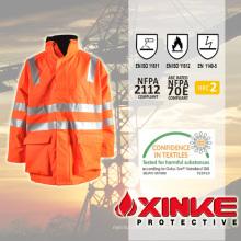 Xinke impermeável e resistente a incêndios de alta visibilidade jaqueta