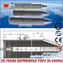 Cilindro hidráulico multietapa para la minería Soporte hidráulico