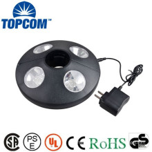 Black Patio Balcony Wireless Spot 24+4 Led Clamp Lever Light Umbrella