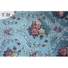 Tissu jacquard floral de tapisserie d'ameublement sans chenille