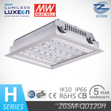 IP66 Rated 120 W LED Gas Station Light with Motion Sensor