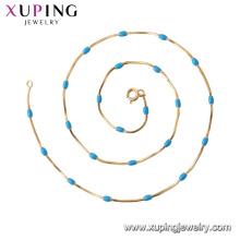44824 xuping simples e generous18k banhado a ouro cadeia colar moda jóias China atacado