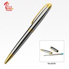 Caneta de aço inoxidável caneta de papelaria de alta qualidade