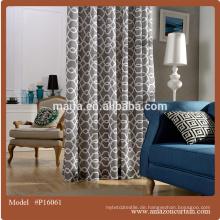Polyester 300CM Breite Vorhang Blackout Stoff gedruckt