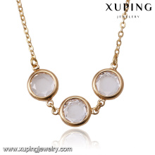 44064 wholesale china new design fashion delicat 18k bubble type gold plated jewelry necklace
