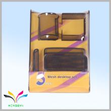 Metall-Mesh-Briefpapier 5 Stück Büro-Schreibtisch-Set