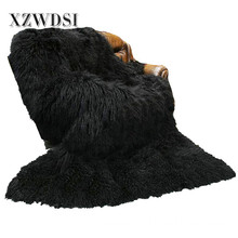 Full Pelt Fashion Mongolian Lamb Fleece Fur Blanket