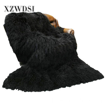 Full Pelt Mode mongolischen Lamm Fleece-Pelz-Decke