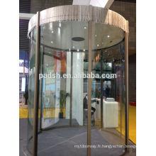 Porte coulissante en verre automatique à cercle complet à bas prix