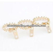 Mode unique fermeture à glissière bijoux pour femmes diamants anneaux prix