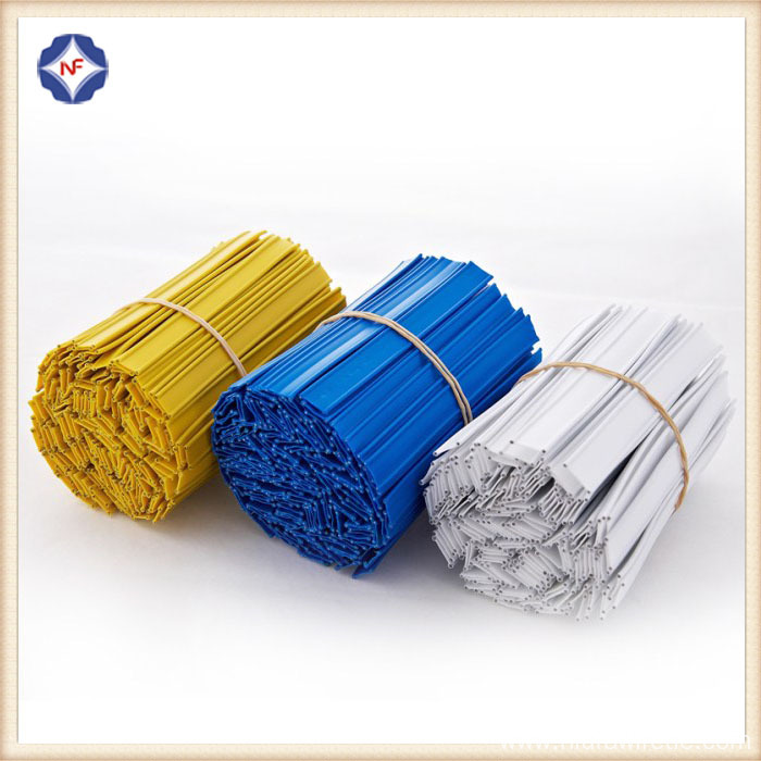 Plastic Coated Double Metal Wire Twist Tie
