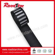 2cm breit gestreift schwarz reflektierendes Gurtband Band für Kleidung