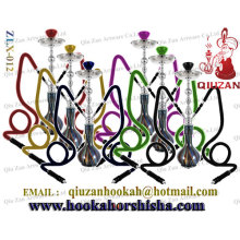 Two Hose Big Hookah With Gradient Pattern Bottle