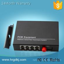 Voix ethernet de 4 canaux sur le multiplexeur de ligne téléphonique de convertisseur audio optique de fibre