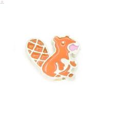 Liga de zinco pequenos animais encantos para medalhões, encantos de esquilo kawaii bonito