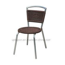 Алюминиевый PE ротанга бистро обеденный стул, Безрукий (СП-OC826)