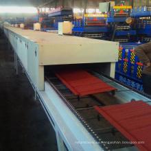 Venta caliente de baldosas de colores revestidos de piedra de metal antiguo techo de placas de acero que hace la máquina para el panel de techo