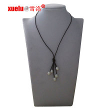 Fashion Leather Tassels Natural Cultured Pearl Necklace Wholesale