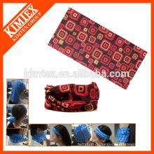 Kundenspezifische gedruckte nahtlose röhrenförmige billige Bandana für Kopf