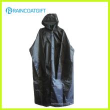 Impermeable largo de Parka del abrigo 100% del poliéster del PVC