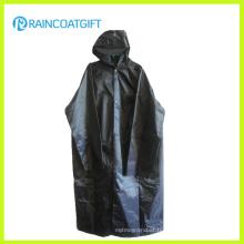 Durable 100% polyester enduisant de PVC long manteau Parka imperméable