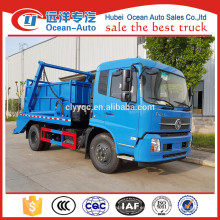 Dongfeng kingrun camión de basura swing brazo contenedor
