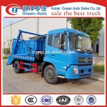 Dongfeng kingrun caminhão de lixo swing braço recipiente