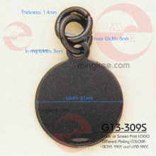 Circle and Round Zipper Slider / Puller (G13-309S)