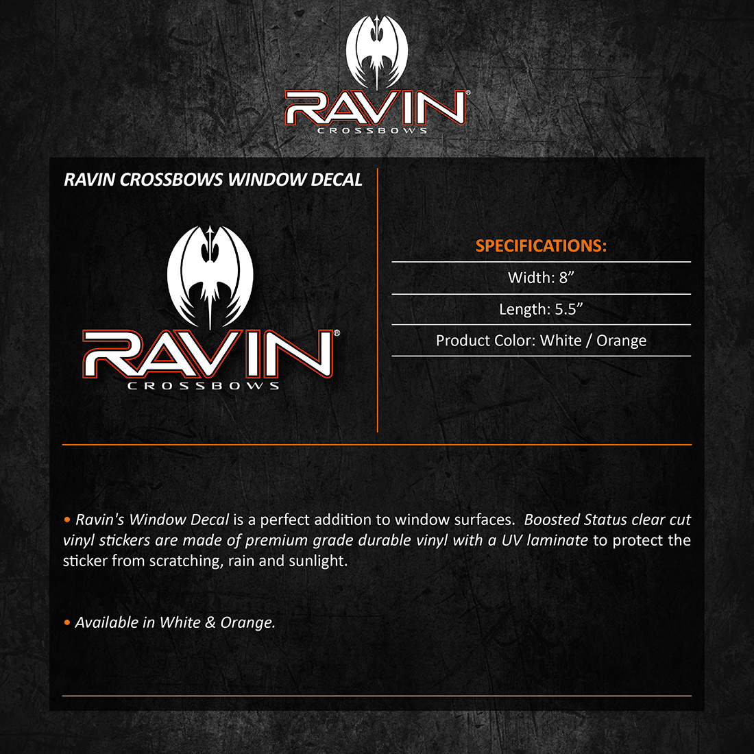 Ravin_Crossbows_Window_Decal_Product_Description