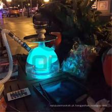 Cachimbos de água acrílicos modernos com LED