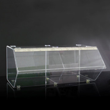 Custom Large Acrylic Bread Display Box Partihandel