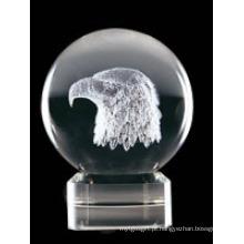 Bola de gravura de cristal (JD-SJQ-002)
