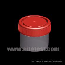 Recipiente de Amostra Plástico de 50 Ml com Graduação