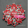 flower crystal bridal party brooch pin