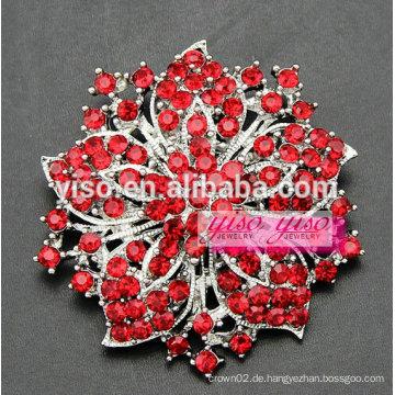 Blume Kristall Braut Partei Brosche