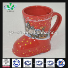 M055 Керамическая милая кружка оптом Красный