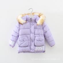 Ropa de los niños de la chaqueta de invierno del nuevo abrigo del diseño 2015 para las muchachas
